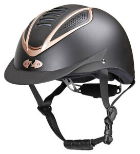 Zilco Riding Safety Helmet Addition Rose Gold Inlay Vg1 Approved