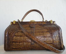 GENUINE CROCODILE SKIN DOCTOR'S STYLE BAG, LARGE, VINTAGE