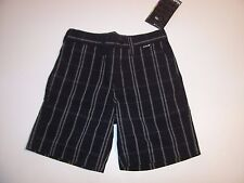 NEW Hurley black white plaid long walking shorts boys youth pick 10 14 16 18 20