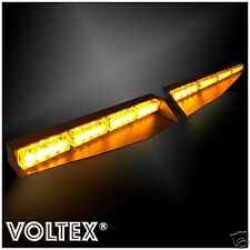 NEW VOLTEX® AMBER VISOR SPLIT DECK 1W DASH LED LIGHTBAR STROBE LIGHT BAR KIT
