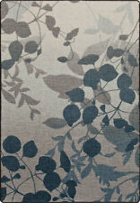 "2x8 Milliken Silhouette Indigo Casual Floral Leaves Area Rug - Approx 2'1""x7'8"""