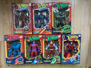 VINTAGE 10 inch X-MEN Deluxe Figures Lot of 7 Marvel ToyBiz 1994 SEALED MIB