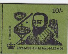 Gb Qeii 10/- Booklet Xp11 Feb 1970 Frobisher