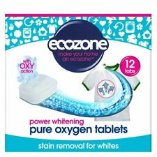 More details for ecozone pure oxygen laundry whitener 24 tablet powerful stain remover for whites