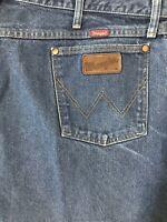 Wrangler 44 x 30 31 Relaxed 31MWZPW Dark Wash 100% Cotton Denim Jeans