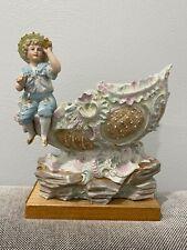 Antique German Bisque Porcelain Child w/ Binoculars & Boat Sh 00006000 ip Figurine / Vase