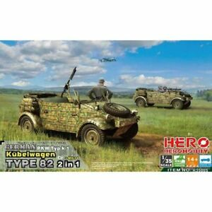 Hero Hobby H35005 1/35 Kubelwagen TYPE82 2 in 1 + Mg34 AA & AG tripod fitter opt