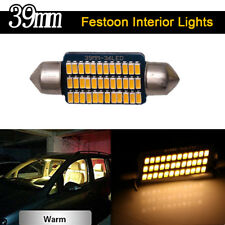 4X Warm White Canbus 39mm 3014 36SMD Festoon Led Interior Map Dome Light Bulbs