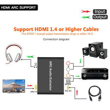 hdmi audio extractor arc to optical spdif coaxial 3 5mm analog l/r stereo  audio