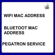 APPLE BLUETOOTH & WIFI MAC ADDRESS CHECK VIA IMEI O SERIAL NUMBER - PEGATRON