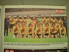 FOOTBALL COUPURE PRESSE PHOTO COULEUR 21x13cm RC LENS 1976 1977