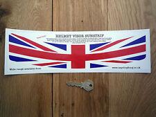 Union Jack Casco Visor sunstrip pegatina carrera de coches Rally Bike Gb UK BANDERA BRITÁNICA