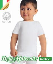 MAGLIETTA BIMBO T-SHIRT COTONE RelaxMaternity Baby INTIMO 6-36 MESI NEONATO
