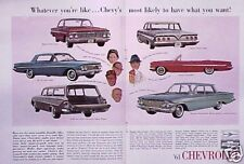 1961 Chevy Impala Convert Bel Air  ORIGINAL Vintage Ad  CMY STORE  5+= FREE SHIP