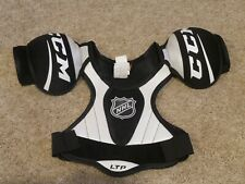 Ccm Ltp Ice Hockey Chest Protector Shoulder Pads Size Junior Small Black/White