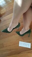 NWT Manolo Blahnik  Velukid Green Suede 105mm BB pumps heels size 38.5 US 8 8.5