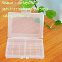 1 X Hard Plastic Battery Case Box Holder Storage for 10x AA AAA Batteries CH5E