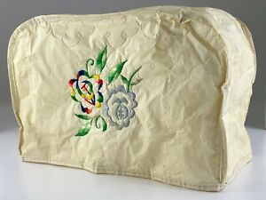 Vintage Toaster Cover Embroidered Floral Cozy U952