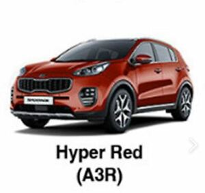KIA OEM Touch-up Brush & Pen Paint(Color Code: A3R - Hyper Red) fit Sportage