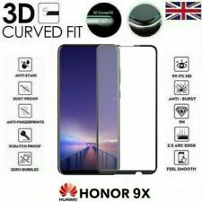 For Huawei Honor 9X 3D Black Full Cover Tempered Glass Screen Protector UK