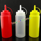 8-24OZ Plastic Squeeze Bottle Condiment Dispenser Ketchup Mustard Sauce Vinegar