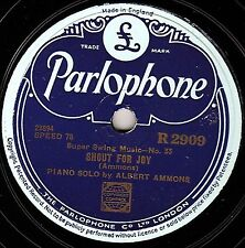 PIANO BOOGIE 78 MEADE LUX LEWIS  BEAR CAT CRAWL/ ALBERT AMMONS  SHOUT FOR JOY Ex