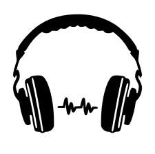 Auriculares-Dj-Beats-música - Coche-VAN-PICK UP-Camión-wall-art - Tema-Calcomanía Adhesivo -.