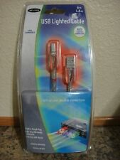 Belkin USB 2.0 A-B LED Lighted Printer Cable, (RED) 6 Ft Item # F3U144-06-RED