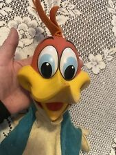1962 Vtg Mattel Woody Woodpecker Rubber Face pull-string Hand Puppet