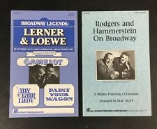 Lot (2) VTG Broadway Music Sheets Book Rodgers & Hammerstein - Lerner & Loewe