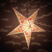Decorative Festive Indian Hang  Christmas Party Star Lamp Paper Lantern Décor