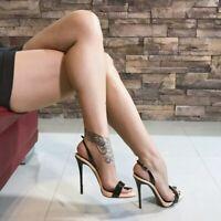 Women High Heels Slingback Sandals Party Open Toe Buckle Stiletto Shoe Plus Size