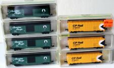 7 N Model Power Canadian Pacific Cars (4 Boxcars, 3 Reefers)