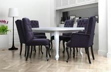 6x Chesterfield Sessel Lehn Textil Sitz Polster Stuhl Designer Esszimmer Stühle
