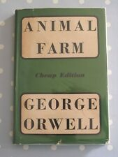 ANIMAL FARM BY GEORGE ORWELL SECKER AND WARBURG DATED 1950 WITH DUST JACKET