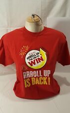 Tim Hortons Red Shirt Mens Medium Roll Up The Rim To Win