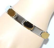 BRACCIALE uomo ACCIAIO argento oro dorato semi rigido bracelet pulsera F20