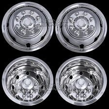 """Chevy 3500 16"""" Dual Steel Wheel Simulators Dually 8 Lug Rim Skins Liners Covers"""