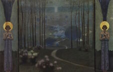 Art Nouveau Postcard: Entrance to Paradise 1906 - W. Bernatzik