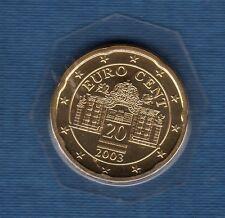 Autriche 2003 - 20 centimes d'Euro - FDC provenant du coffret 125000 exemplaires