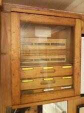 Vintage Station Glazed Wooden Wall Mountable Fuse Cabinet / Cupboard
