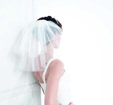 Brautschleier mini EMMERLING Kurbelkante weiss ivory 36 cm neckisch sexy