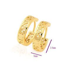 Vintage Hollow Gold Filled korean Womens girls Child small Hoop Earrings earings