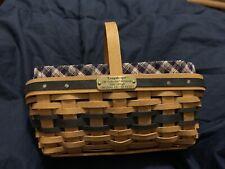 Longaberger Easter Basket 2003 Minature Liner And Protector