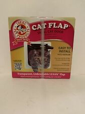 """Ideal Pet Products Cat Flap Small Cat Door (6 1/4"""" x 6 1/4"""") White New Sealed"""