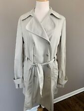 Theory Women's Belted Trench Coat Stone Natural Beige Size Large Style #80474461