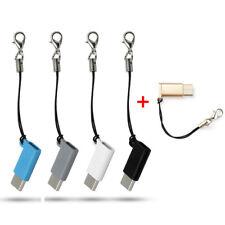 Mini USB 3.1 Type-C Male to Micro USB Female Data Adapter W/Anti-lost Strap NEW