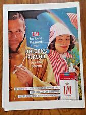 1960 L & M Cigarette Ad Couple in the Rain Rainbow