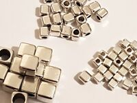 TIBETAN SILVER CUBE SPACER BEADS 2mm-3mm-6mm Jewellery Making-Crafts