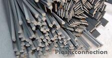 L'HDPE plastica di saldatura BACCHETTE (3mm + 6mm) Grigio 30pcs PEHD